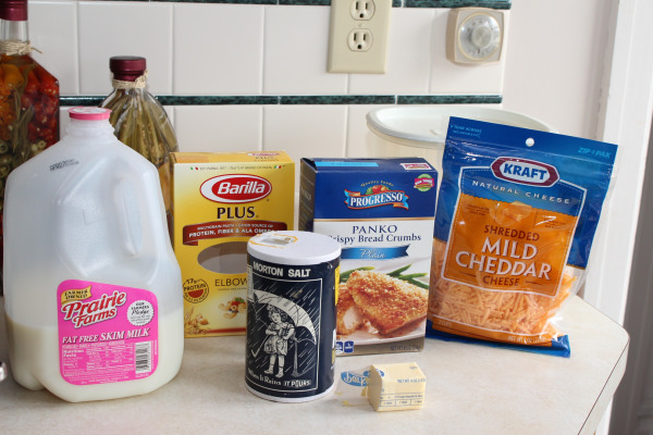 Ingredients for Homemade Macaroni and Cheese