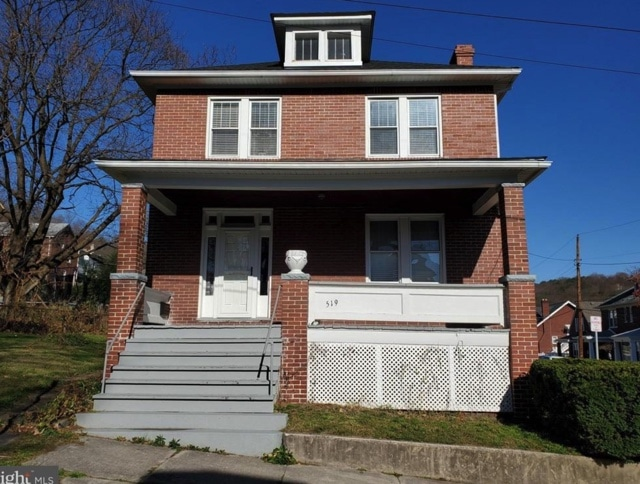 c.1920 Brick Foursquare For Sale in Cumberland MD Under $80K