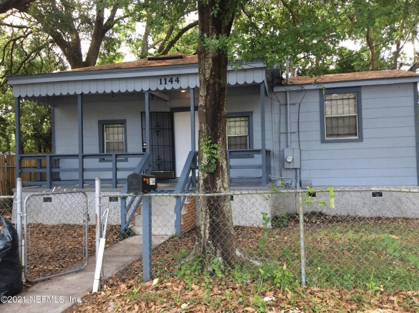 c. 1960 Well Maintained, Investment Opportunity in Jacksonville, FL. $60,000
