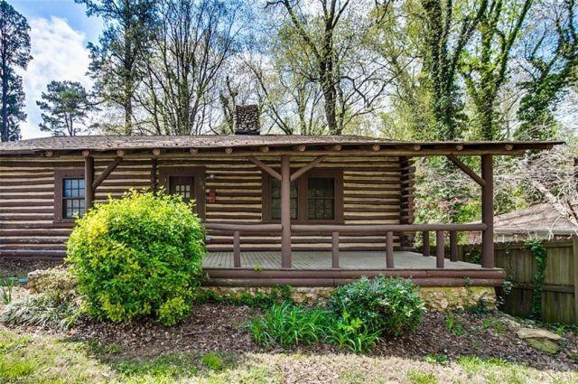 Under 100K Sunday c 1945 NC Log Cabin For Sale Under