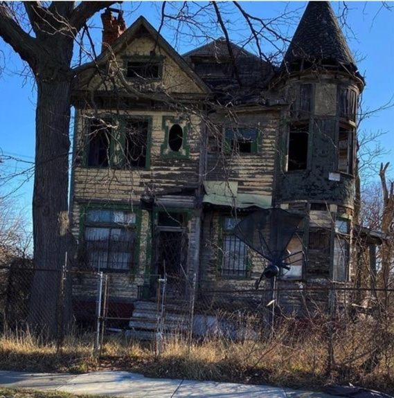 abandoned Queen Anne Victorian