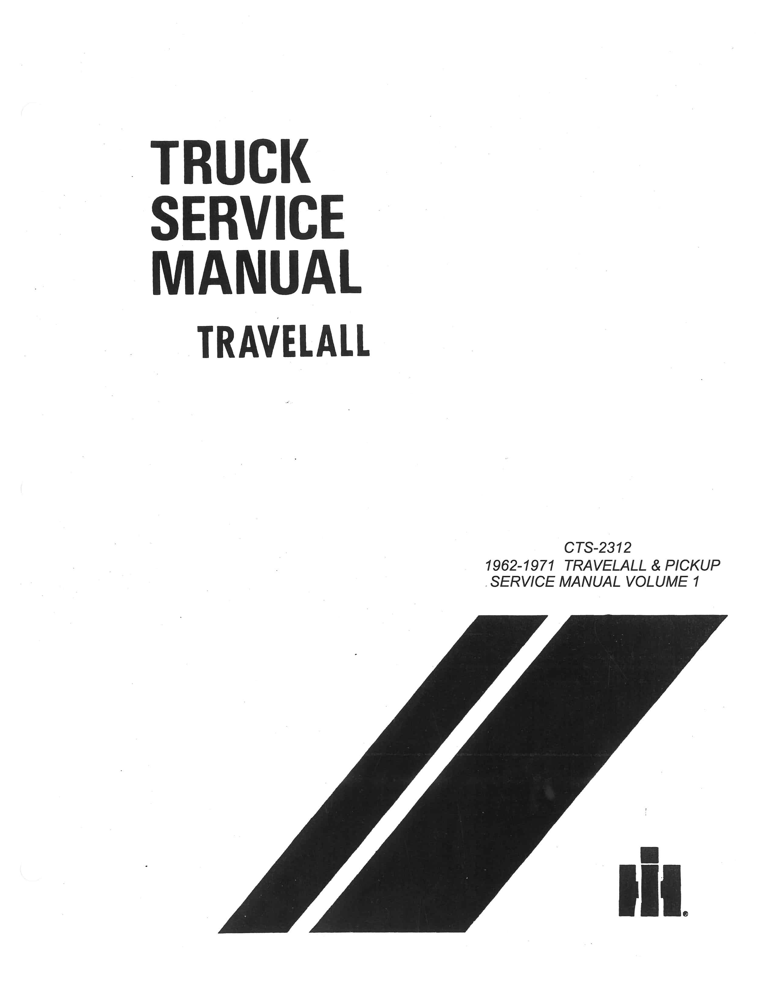 Service Manual Pickup Amp Travelall Old