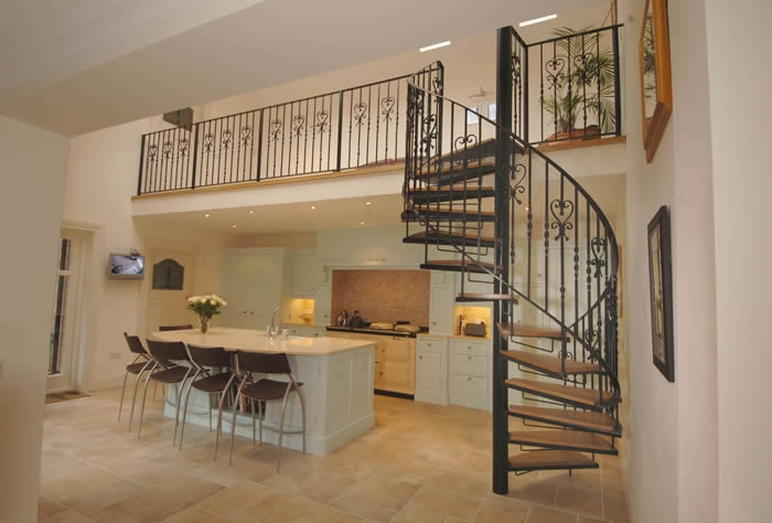 Spiral Stairs Architectural Stairs Spiral Staircase | Wrought Iron Spiral Staircase | Wood | Gothic | Small | Mezzanine | Internal