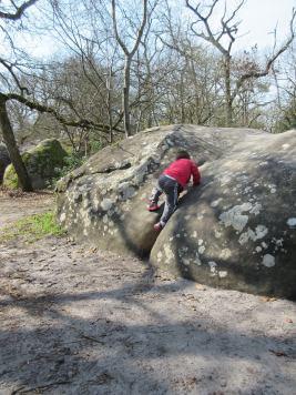 Des climbing