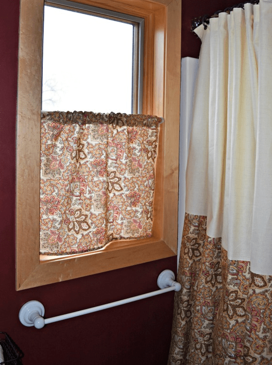 Matching Shower Curtain and window curtain