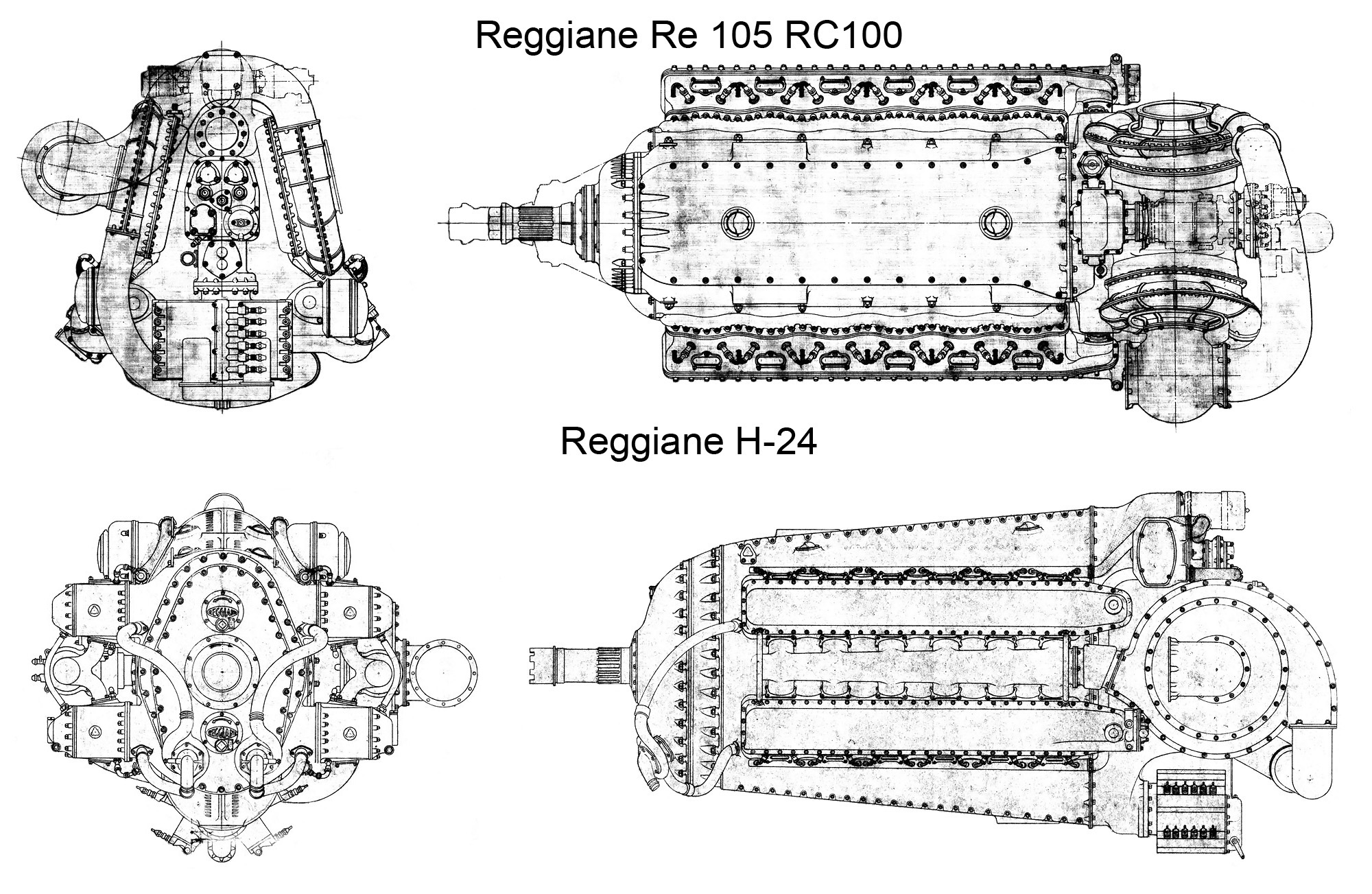 Reggiane Re 101 To Re 105 Aircraft Engines