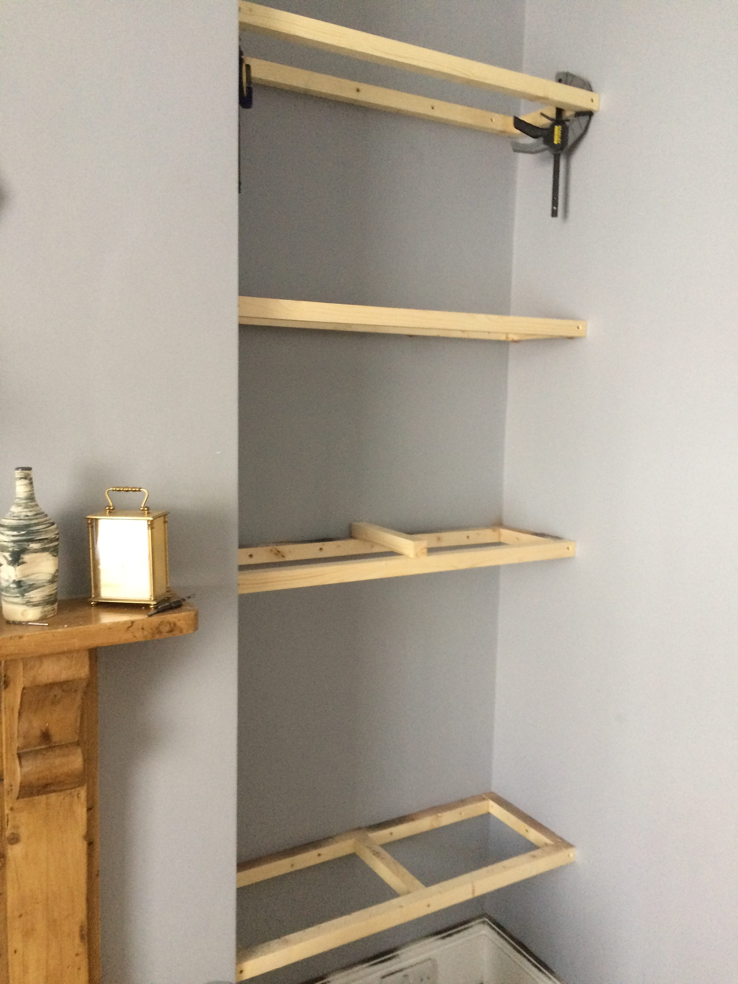 Astonishing How To Build Floating Shelves In An Alcove Old Man Grumbling Interior Design Ideas Inesswwsoteloinfo