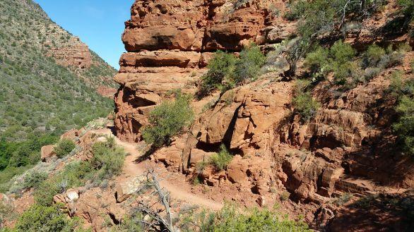 Bell Trail near Sedona, Arizona. Old Man Hiking. Red Rock Desert