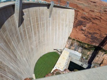 Glen Canyon Dam. Page, Arizona. Old Man Hiking.