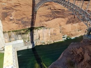 Glen Canyon Dam. Page, Arizona. Old Man Hiking.