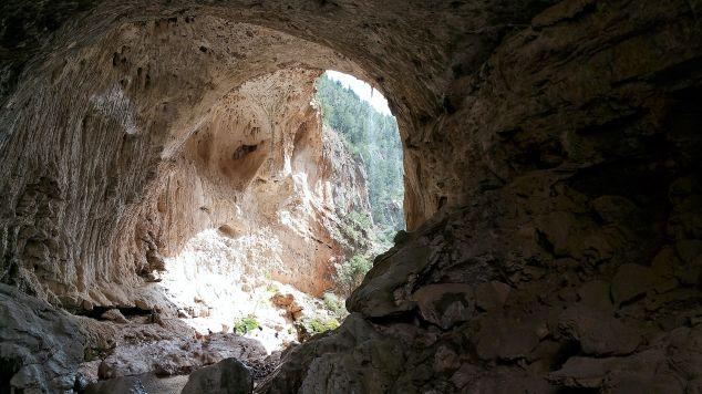 Inside Tonto Natural Bridge. Payson, Arizona.