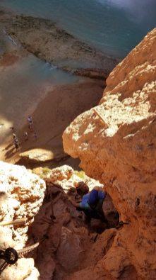 Mooney Falls Hiking Havasupai Arizona Rusty Ward