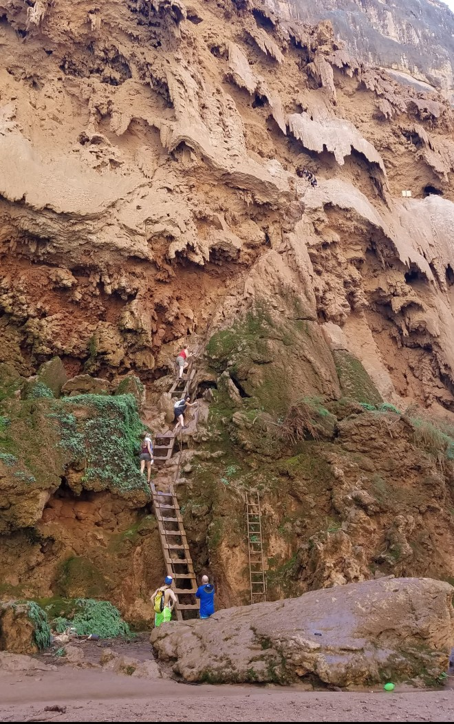 Ladder in and out of Mooney Falls