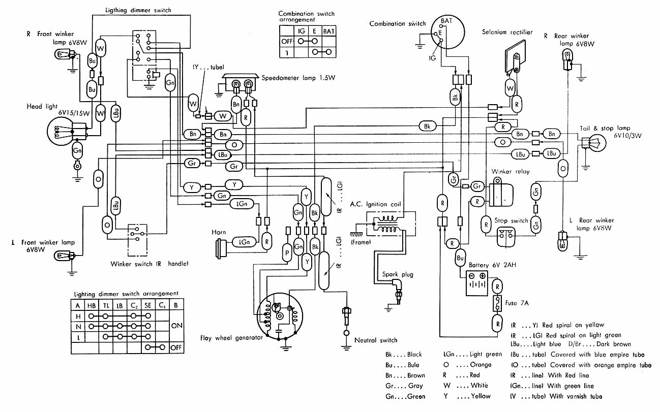 Honda 50 Wiring Diagram on Honda Cb360 Wiring Diagram
