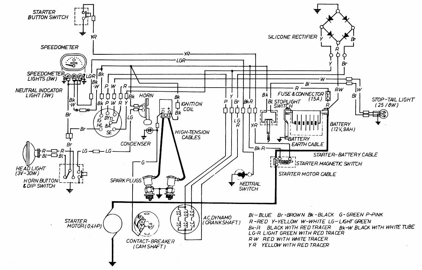 2001 honda civic headlight wiring diagram