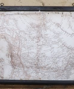 Detailed map of Canada Sephia