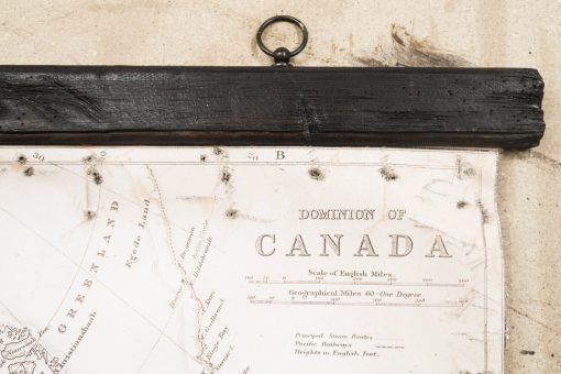 details of map of canada hanger