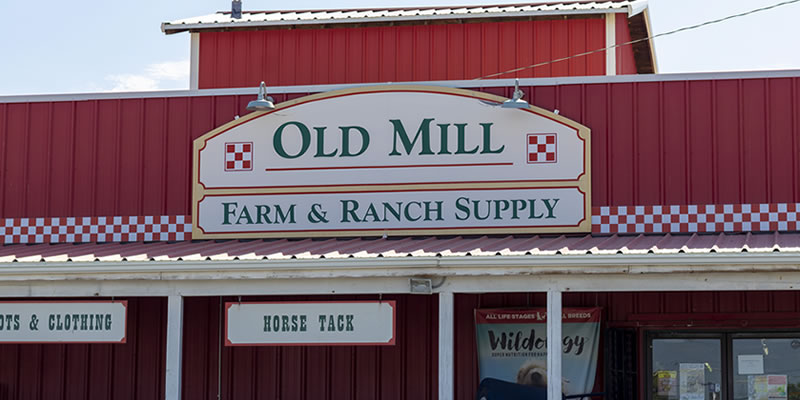Old Mill Farm and Ranch Supply store front