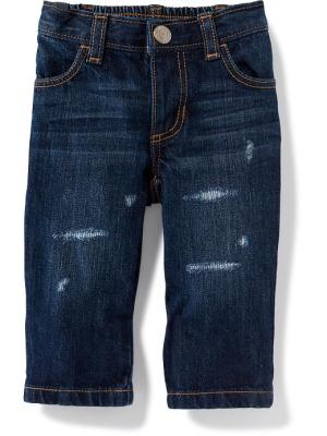 Old Navy Rip And Repair Jeans For Baby Size 6-12 M - Indigo denim