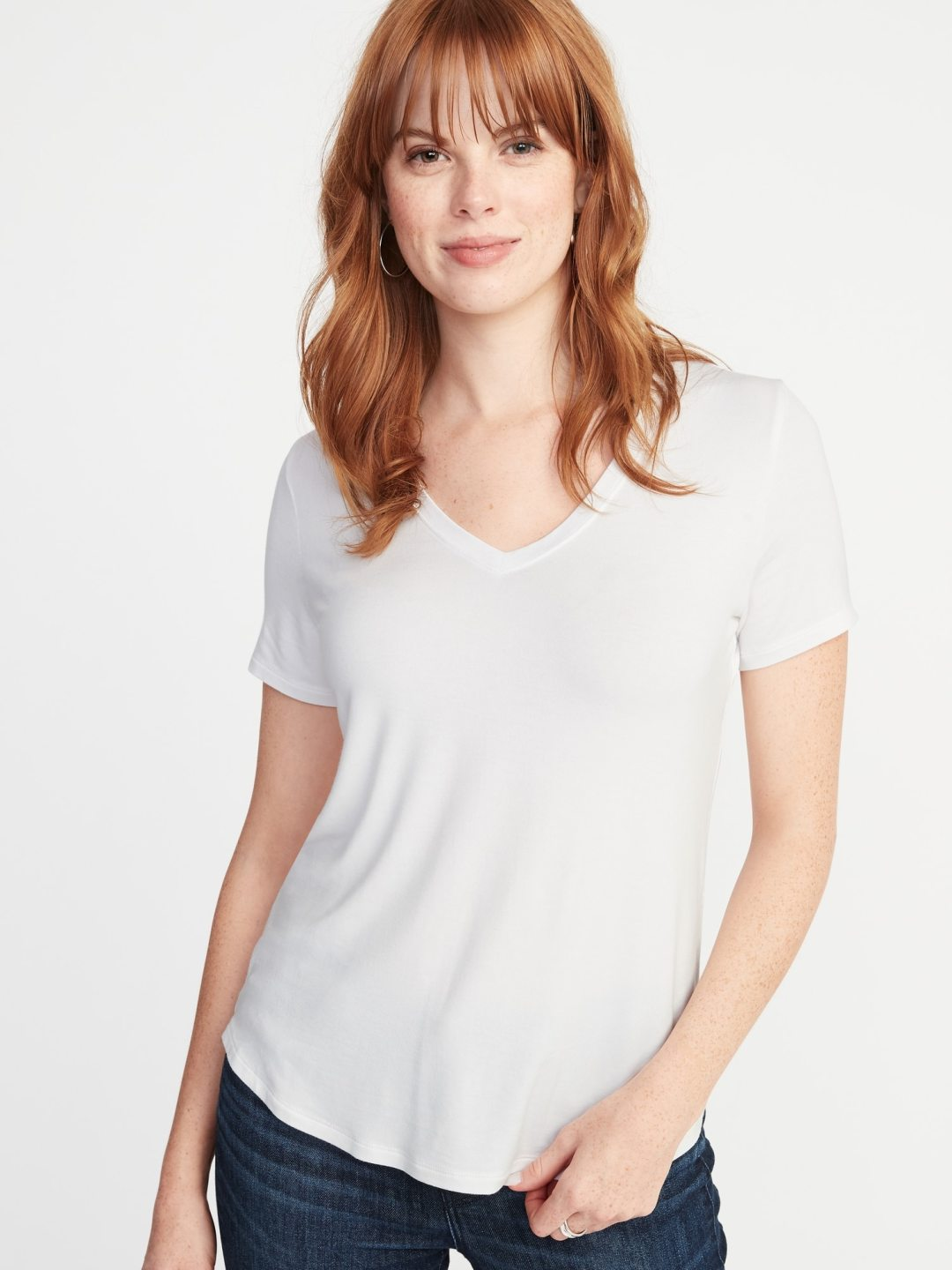 Wardrobe essentials Luxe v-neck Tee from Old Navy