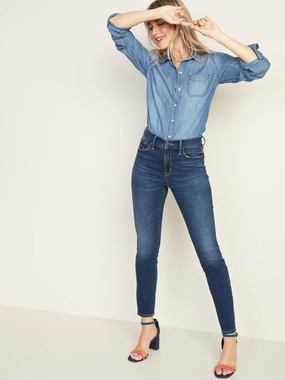 High-Rise Secret-Slim Pockets Pop Icon Skinny Jeans for Women