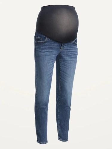 Maternity Full Panel O.G. Straight Dark-Wash Jeans for Women