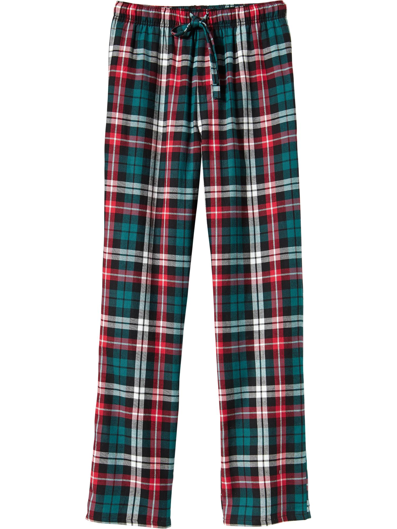 Old Navy Men's Patterned Flannel Pj Pants – Red & Green Plaid ...