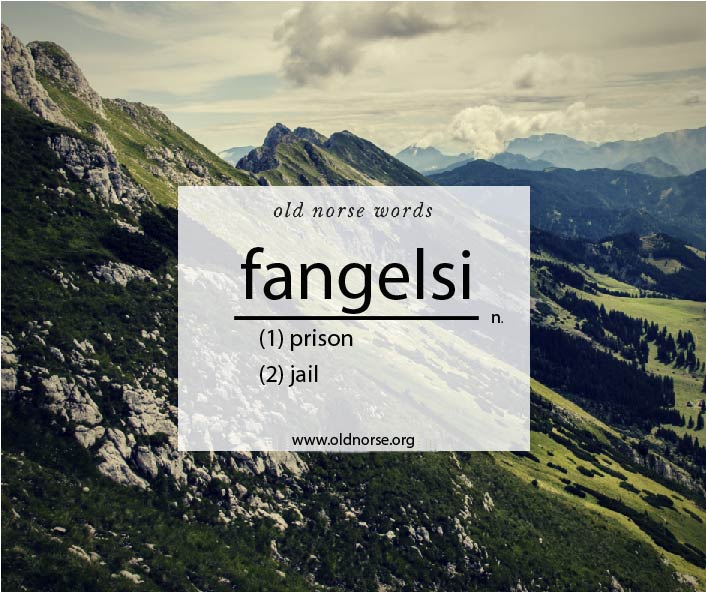 Old Norse Vocab Template_Word of the Day_fangelsi
