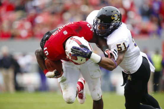 Image result for East Carolina Pirates vs. NC State Wolfpack