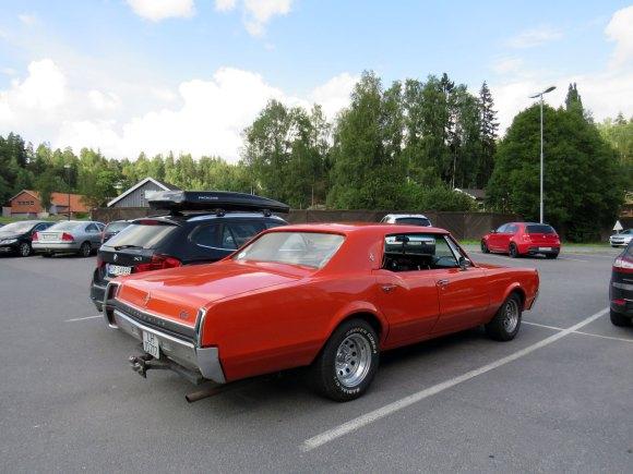 1967 Oldsmobile Cutlass four door hardtop norway parked cars