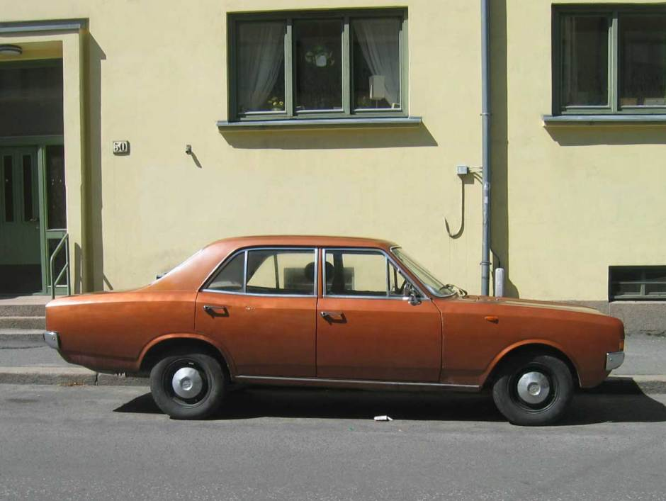 1971 Opel Rekord C Oslo Norway old parked cars