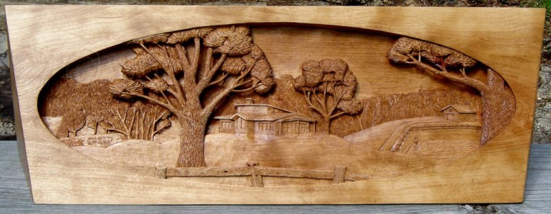 Relief carvings wood by dylan goodson