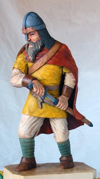 Dylan's carved version of the Viking variation of his Swordsman design.