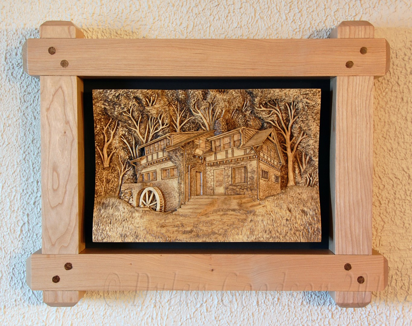 To frame or not wood carvings by dylan goodson