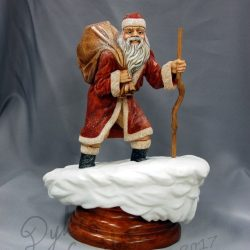 Santa Claus woodcarving Dylan Goodson