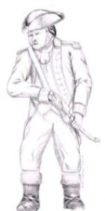 Dylan Goodson's drawing of an american colonial war officer