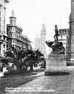 Swanson Street and Matthew Flinders Monument