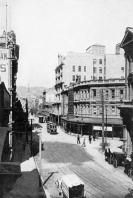 Stewart Dawson's Corner (Willis Street and Lambton Quay)