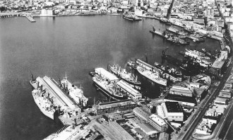 Aerial view of the inner harbour