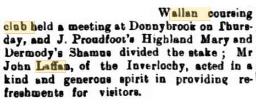 Wallan Coursing Club Meeting. Kilmore Free Press - August 2nd, 1883