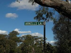 Arkells Lane Signpost