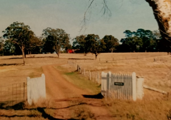 Front Entrance to George Wilson's farm. The tollgate that hung here is now long gone.