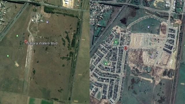 Wallan Airfield 2005 versus Wallan Airfield 2020