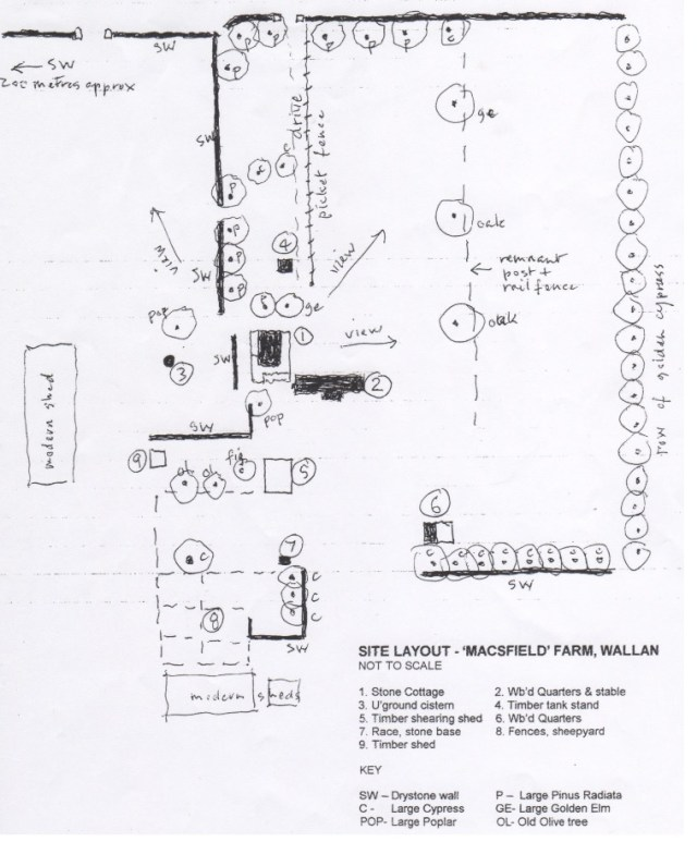 Site layout of Mac'sfield