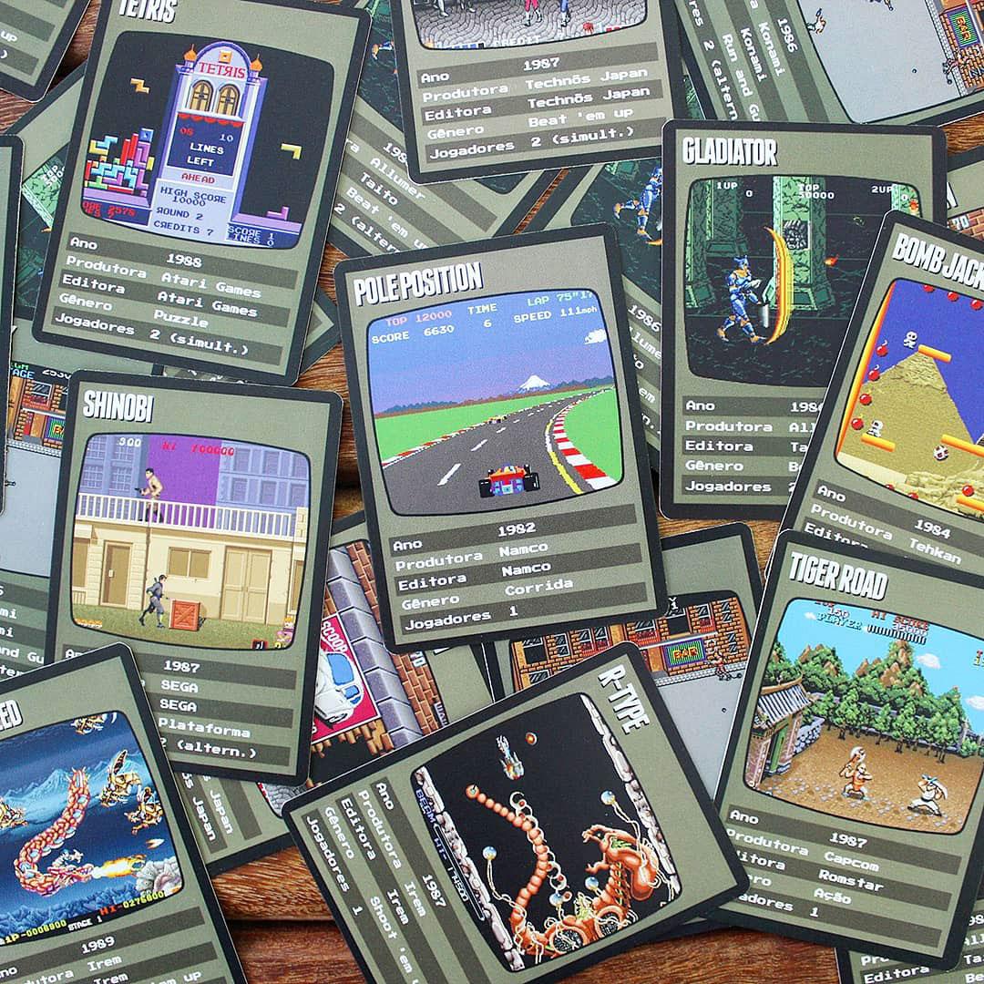 Nova série de cards colecionáveis homenageia os clássicos jogos de fliperama