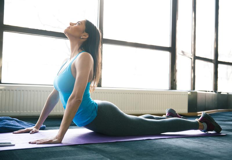 Desk job stretching tips - cobra pose