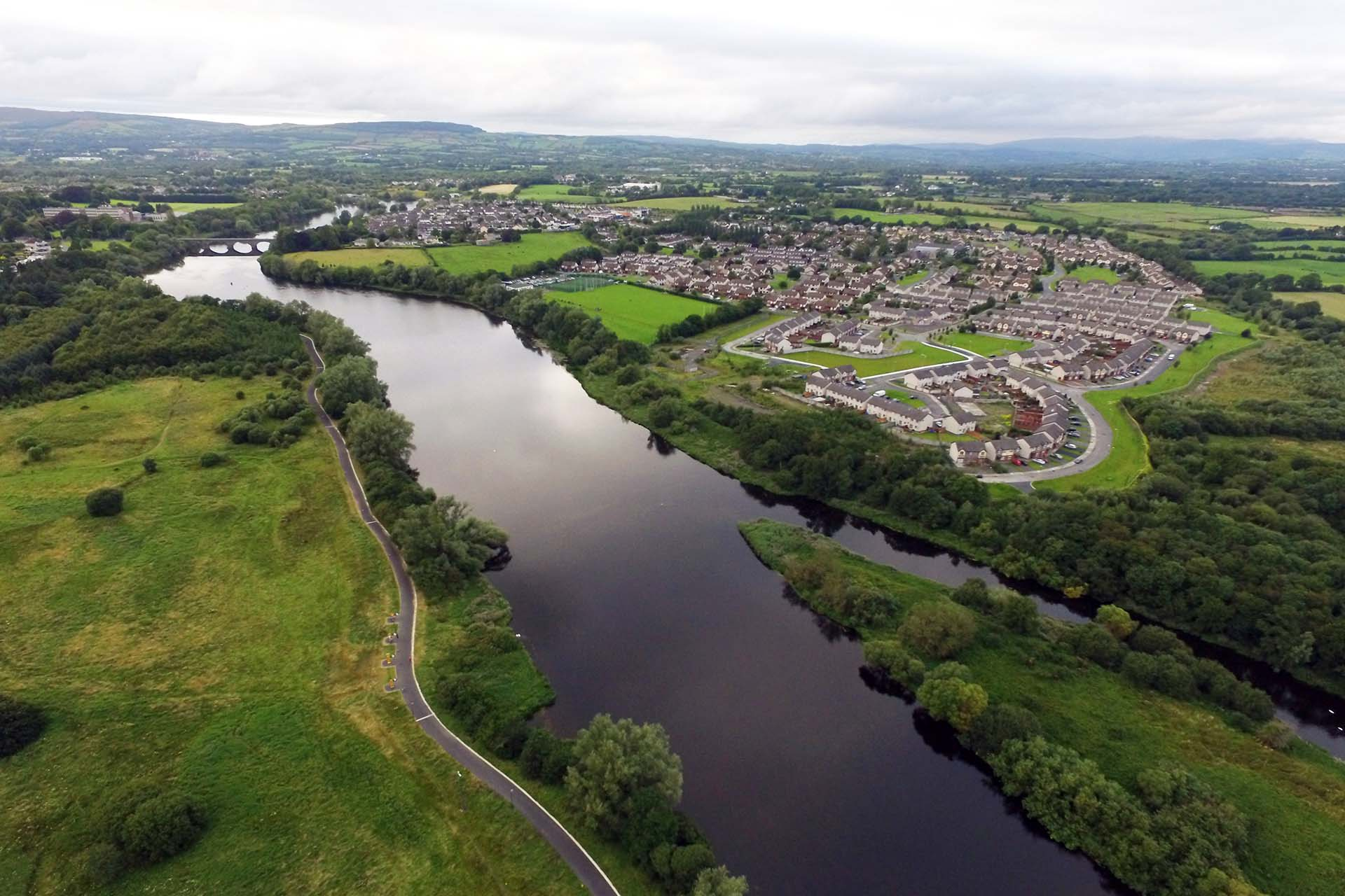 Aerial Photos Lower River Shannon Old River Shannon Trust