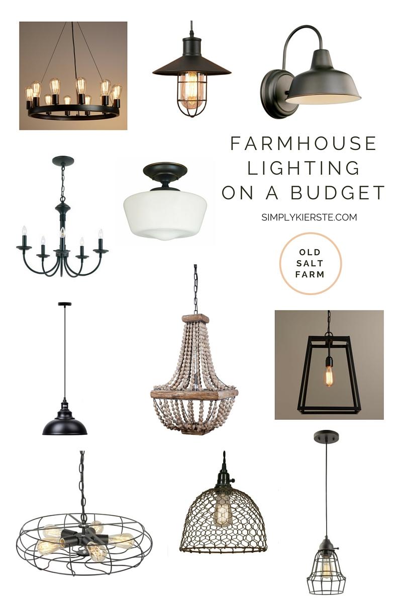 farmhouse lighting on a budget simply