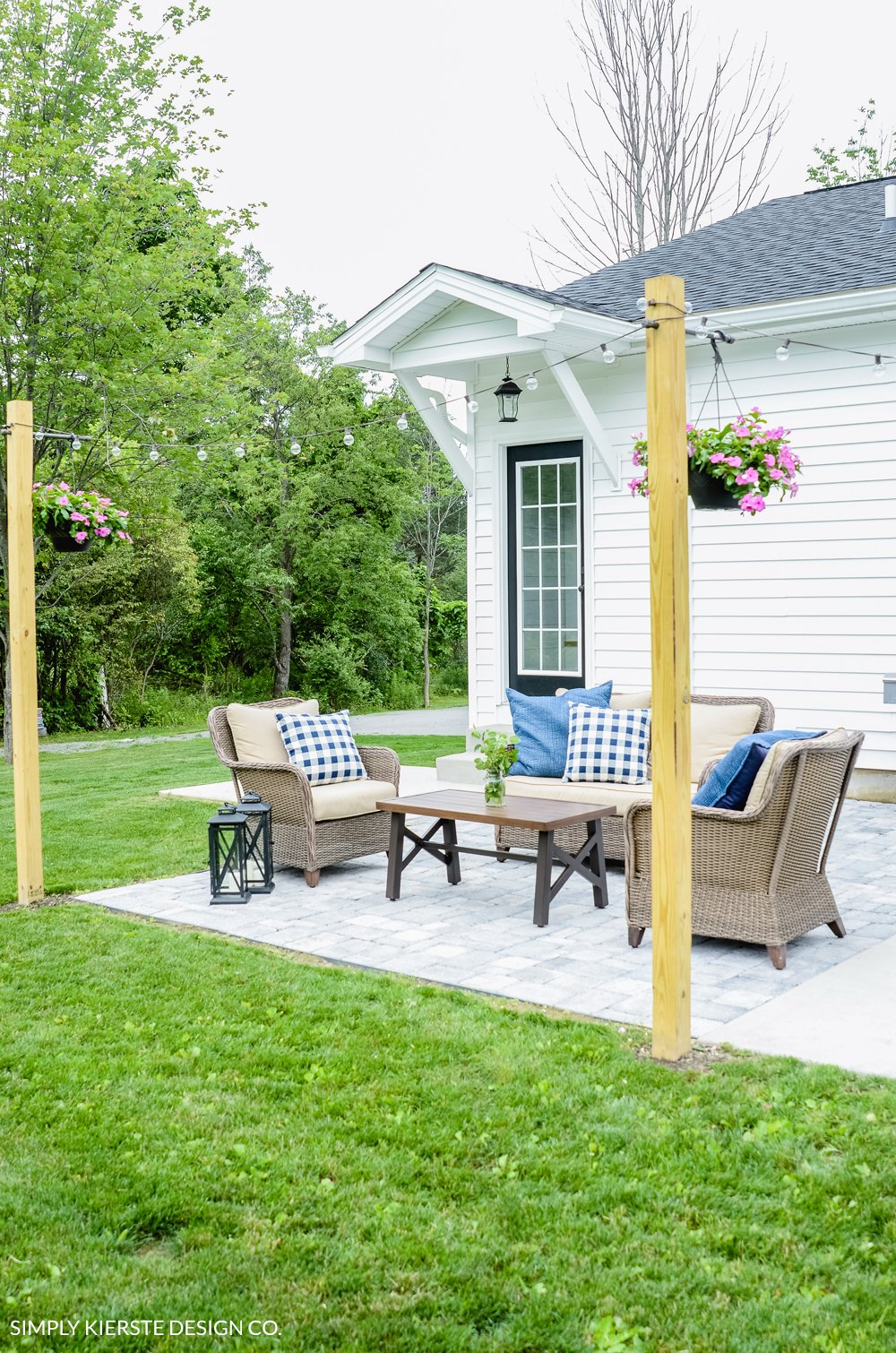 DIY Posts for Outdoor String Lights - Old Salt Farm on Backyard String Lights Diy  id=58927