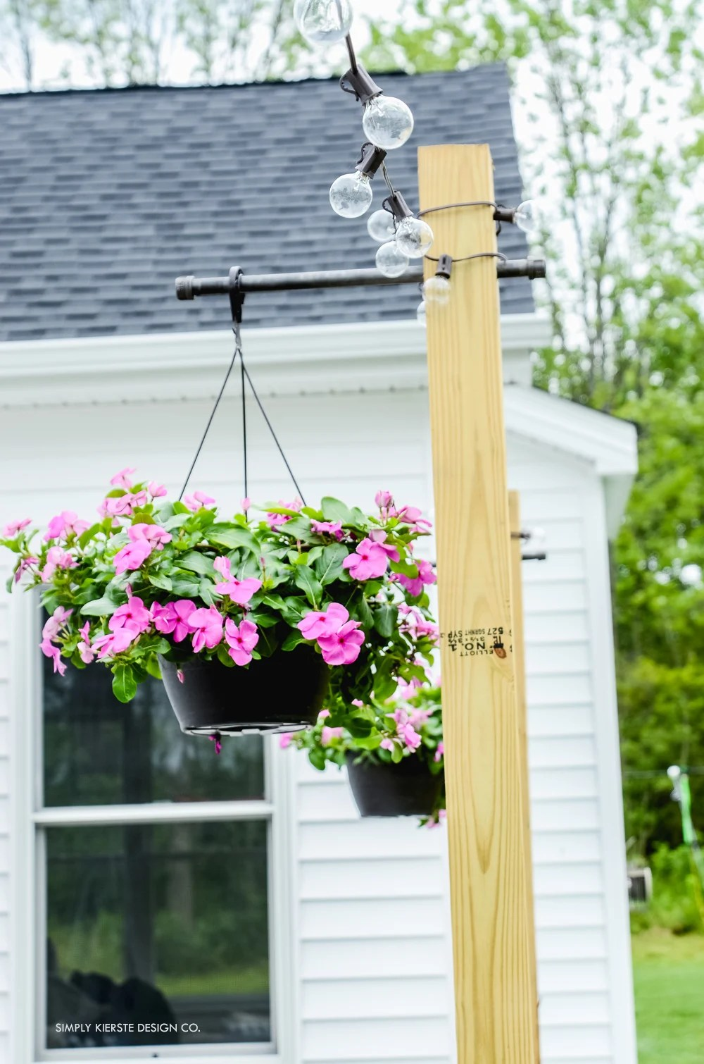 DIY Posts for Outdoor String Lights - Old Salt Farm on Backyard String Lights Diy  id=44473